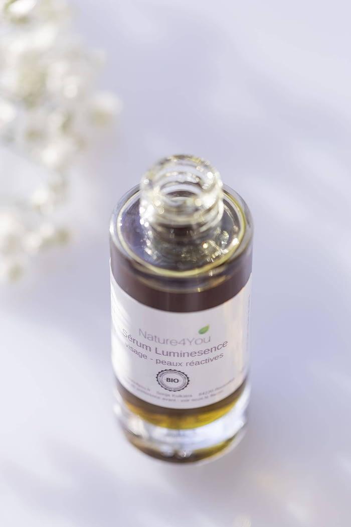Serum luminescence peau réactive nature4you huiles vegetales