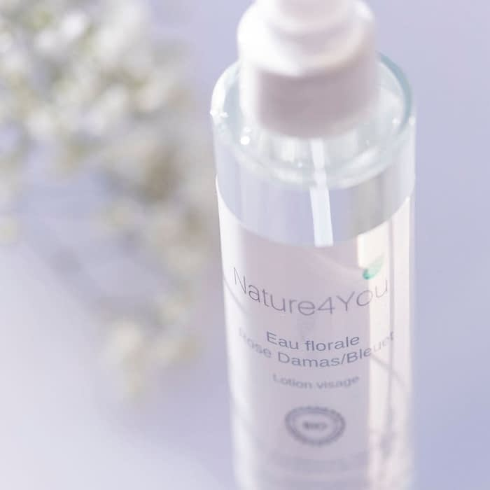 eau florale rose de damas fleur de bleuet nature4you tonique visage naturel